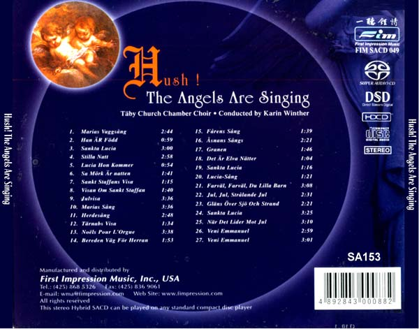 Sa Hush The Angels Are Singing Sacd R Isom Dsd   Music Br Blu Ray Online